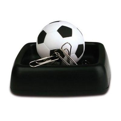antystres  personalizowany piłka futbolowa na podstawce z magnesem na spinacze biurowe